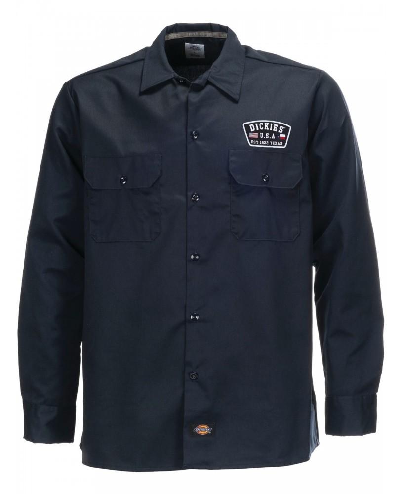 Camisa Minersville negra manga larga marca Dickies
