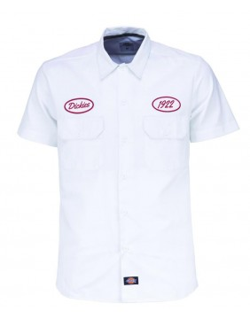 Camisa Rotonda South Dickies blanca para hombre