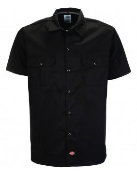 Camisa 576 Slim Fit negra manga corta marca Dickies para hombre frontal