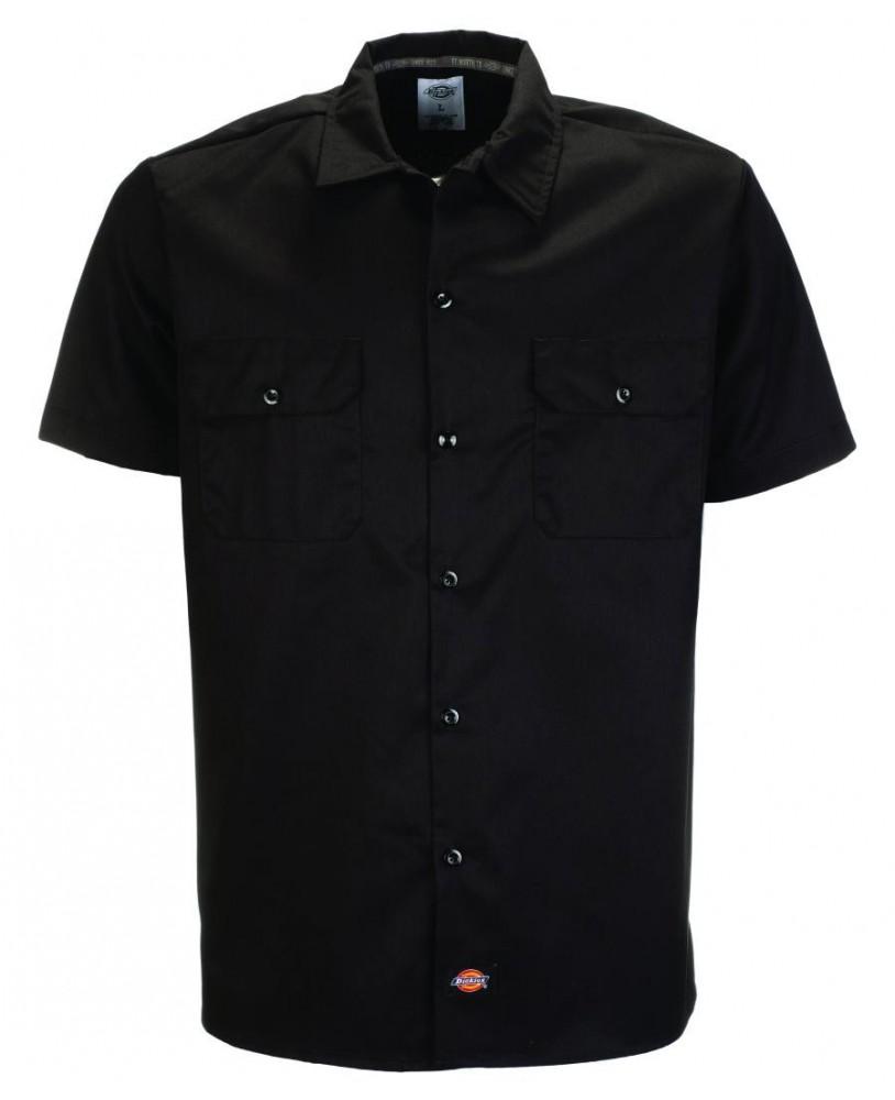 Dickies 576 Work Black Shirt Slim Fit for men front