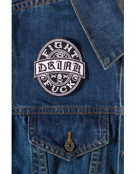 Kustom Kreeps DFF Patch On denim jacket