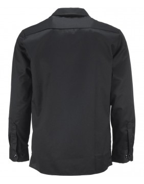 Camisa 576 Slim Fit negra manga larga marca Dickies para hombre espalda