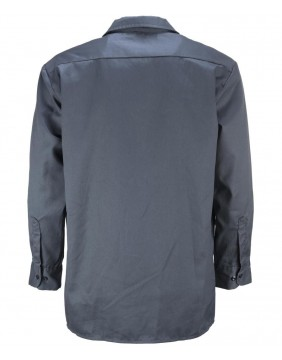 Dickies 576 Work Black Long Sleeve Shirt Slim Fit Back