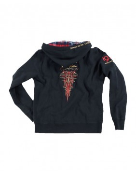 Rusty Pistons Troy Sweatshirt embroidered for men back