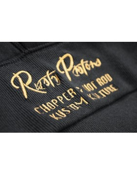 Sudadera negra Waverly Rusty Pistons bordada cintura