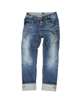 Rusty Pistons Seymour embroidered biker Jeans for men front