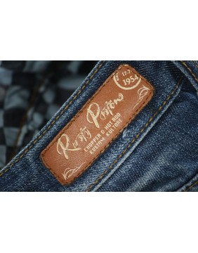 Rusty Pistons Seymour embroidered biker Jeans for men tag