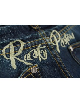 Rusty Pistons Winslow Red Jeans for men back pockets
