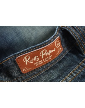 Rusty Pistons Winslow Red Jeans for men tag