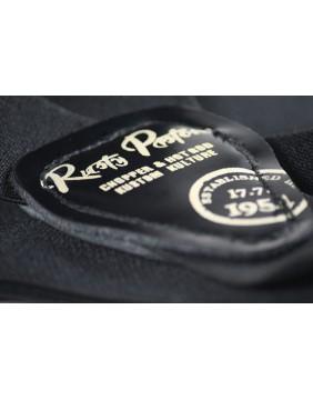 Tirantes de botones Rusty Pistons negros etiqueta