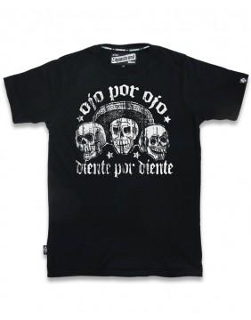 Liquorbrand Camiseta Ojo por Ojo negra para hombre