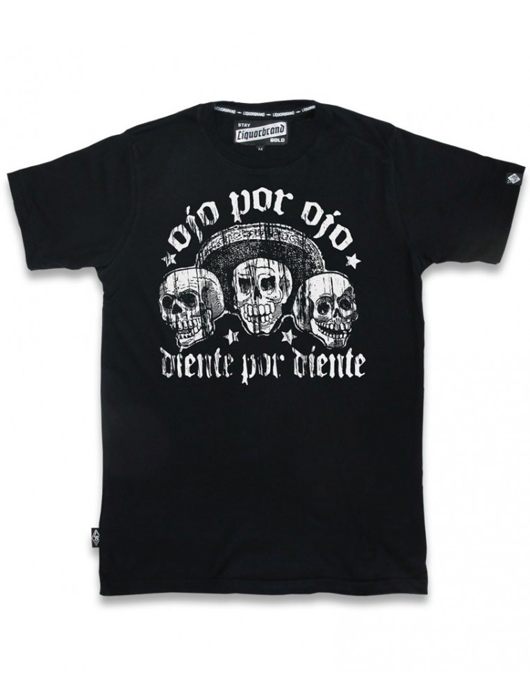 Liquorbrand Ojo por Ojo black T-shirt for men