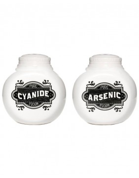 Sourpuss Arsenic & Cyanide Shakers for Salt and Pepper