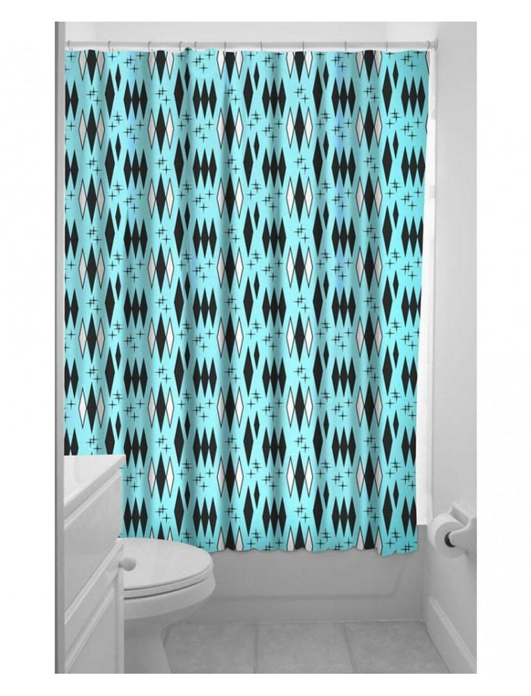 Sourpuss Retro Diamond Shower Curtain