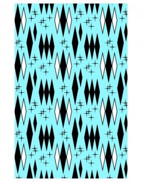 Sourpuss Retro Diamond Shower Curtain print