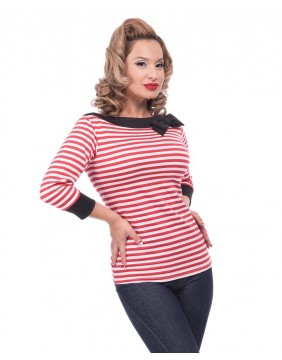 Steady Striped Boatneck Top