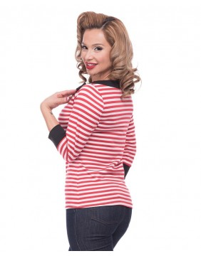 Steady Striped Boatneck Top profile