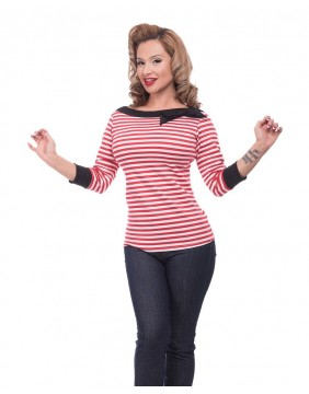 Steady Top Striped Boatneck for women lejos