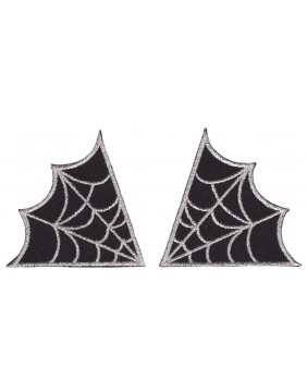 Sourpuss Spiderweb Patches Silver