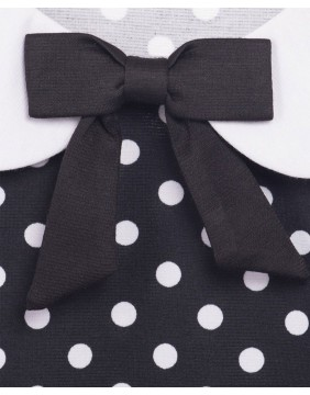 Steady Polka Baby Doll Top Detail