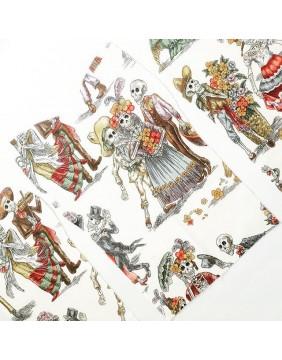 Costureras Rebeldes Bolso Dia de los Muertos detalle impresión