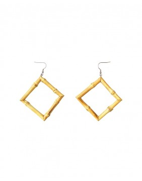 Collectif Tiki Square Bamboo Earrings