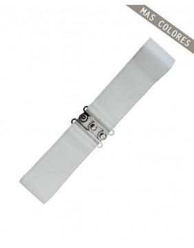 Banned Cinturon Ancho Vintage Blanco para mujer