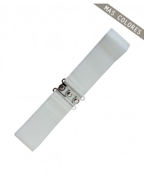 Banned Vintage Stretch Belt White for women