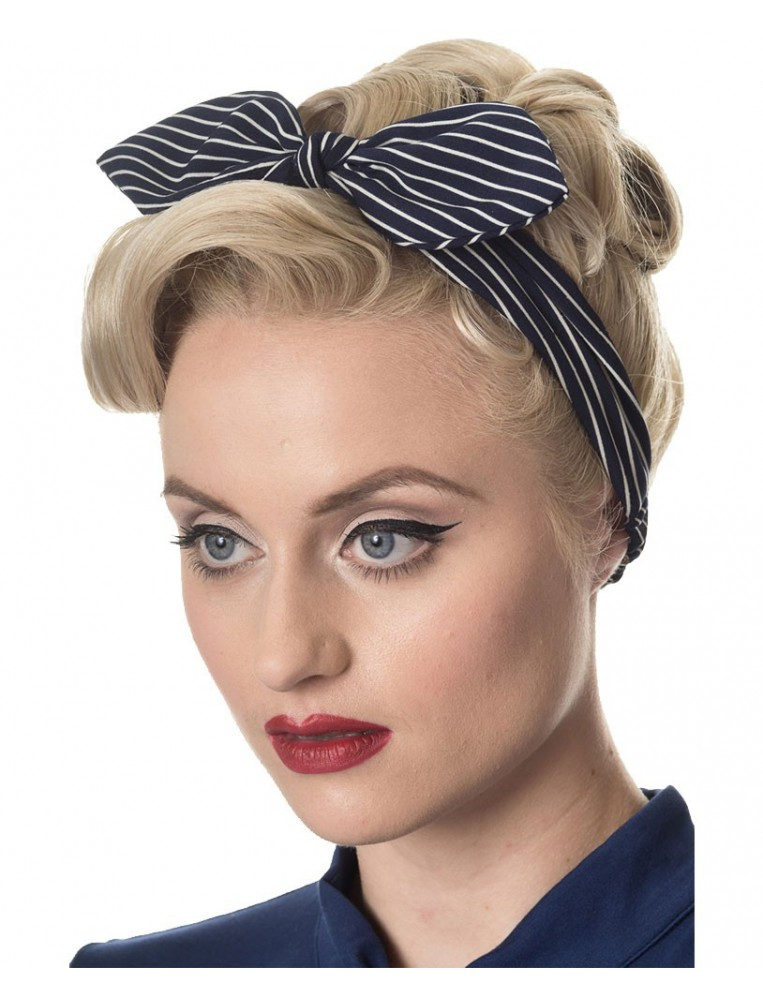 Brandy headscarf stripes