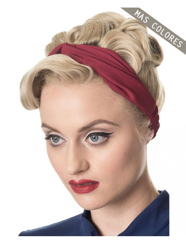 Burgandy headband wannabe by Banned