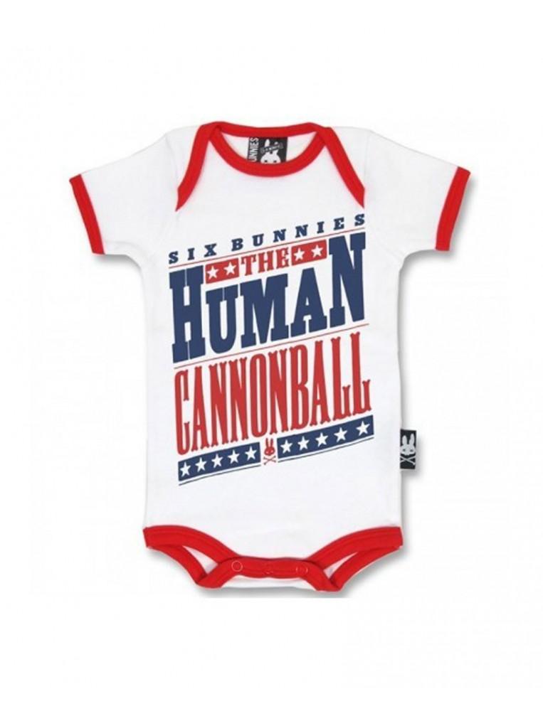 Six Bunnies human canonball romper