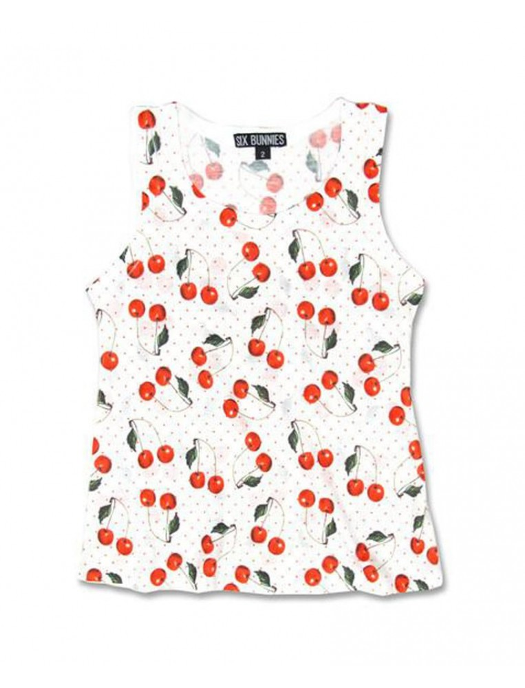 Cherries tank top by Six Bunnies