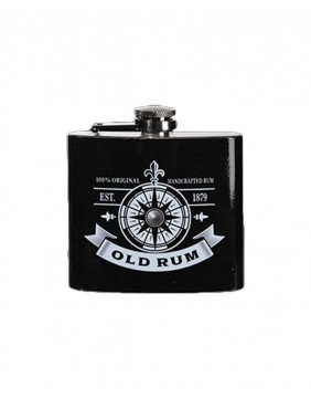 Old Rum metal flask