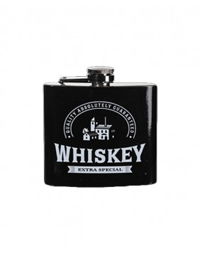 Petaca de metal whiskey