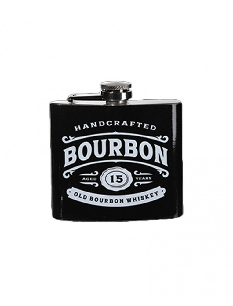 Bourbon metal flask