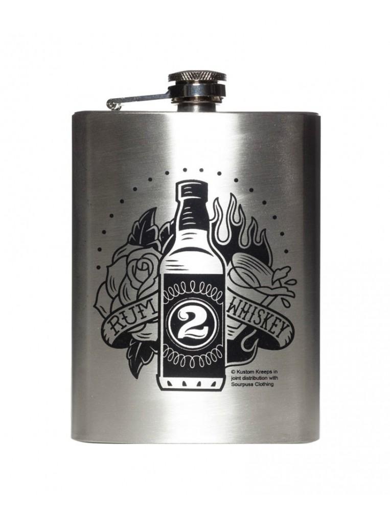 Kutom Kreeps Rum /Whiskey flask main