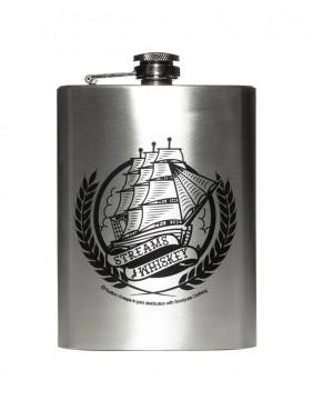 Streams of whiskey metal flask
