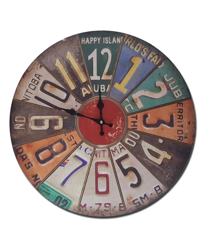 Reloj pared matriculas
