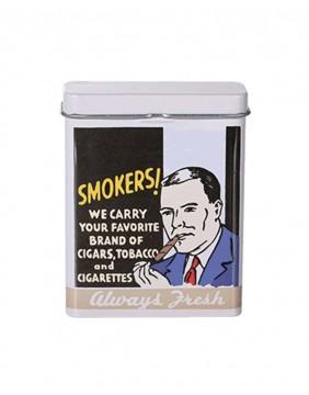 Smokers metal cigarette case