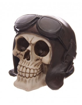 Biker Skull Piggy Bank main