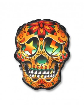 Liquorbrand Mexican Skull Pillow