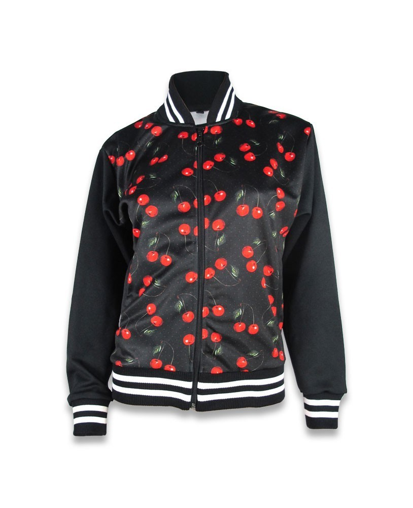 Jacket with cherry design by Liquorbrand