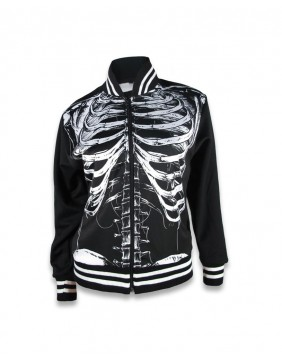 Liquorbrand skeleton jacket unisex front