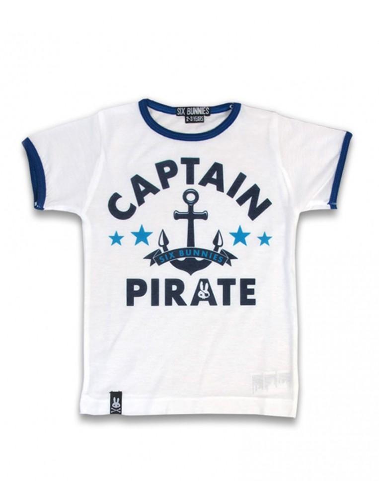 Camiseta capitan pirata para niños de Six Bunnies