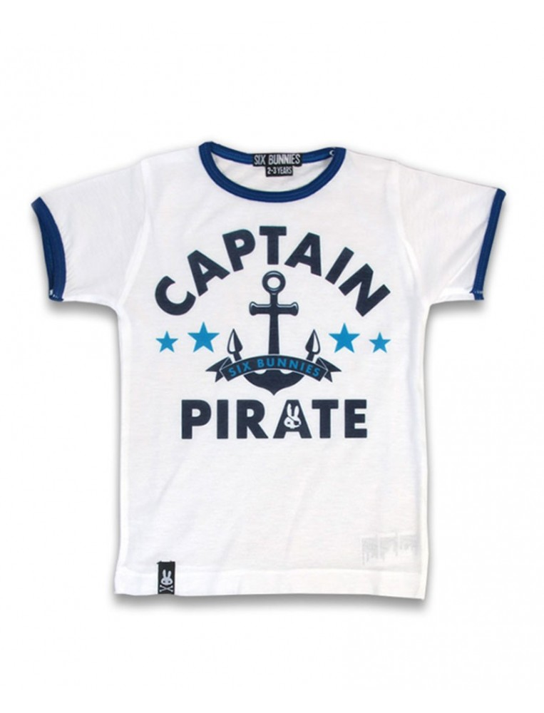 Captain pirate t-shirt for boys by Six Bunnies