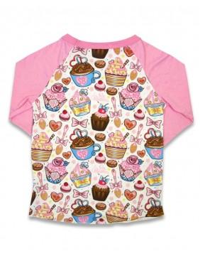 Camiseta de cupcakes para niña de Six Bunnies detras