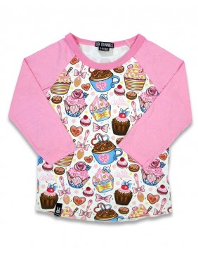 Camiseta de cupcakes para niña de Six Bunnies frontal