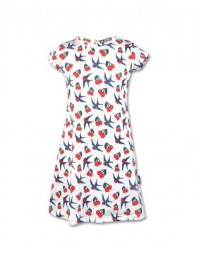 Vestido de cerezas para niña de Six Bunnies principal