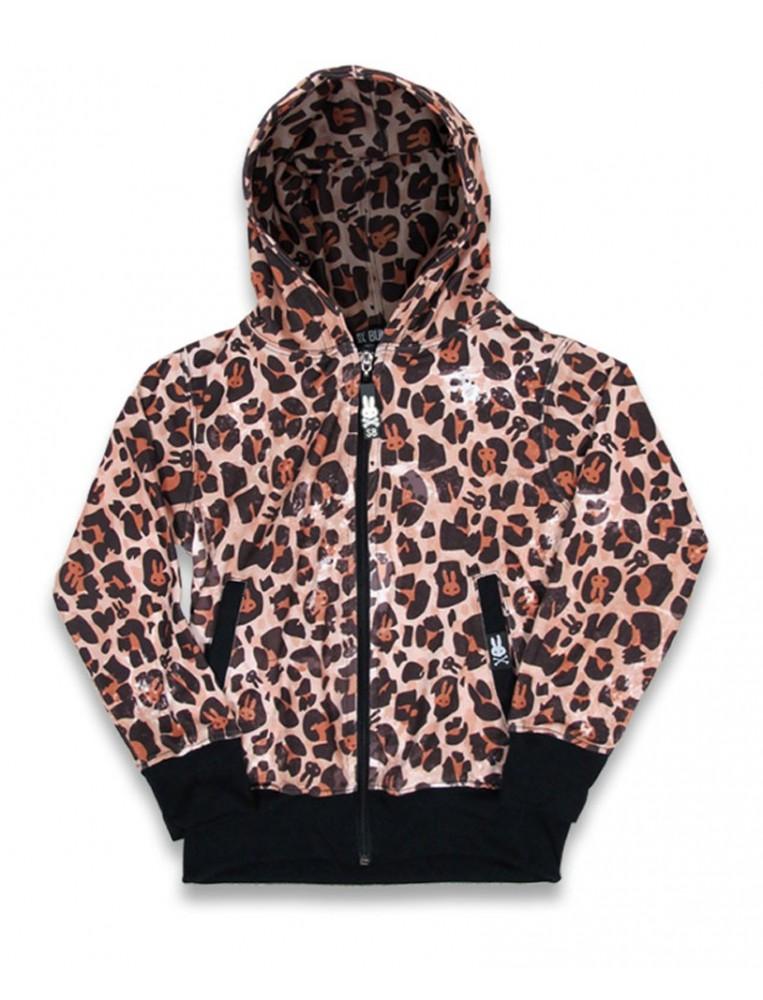 Sudadero leopardo para niña de Six Bunnies