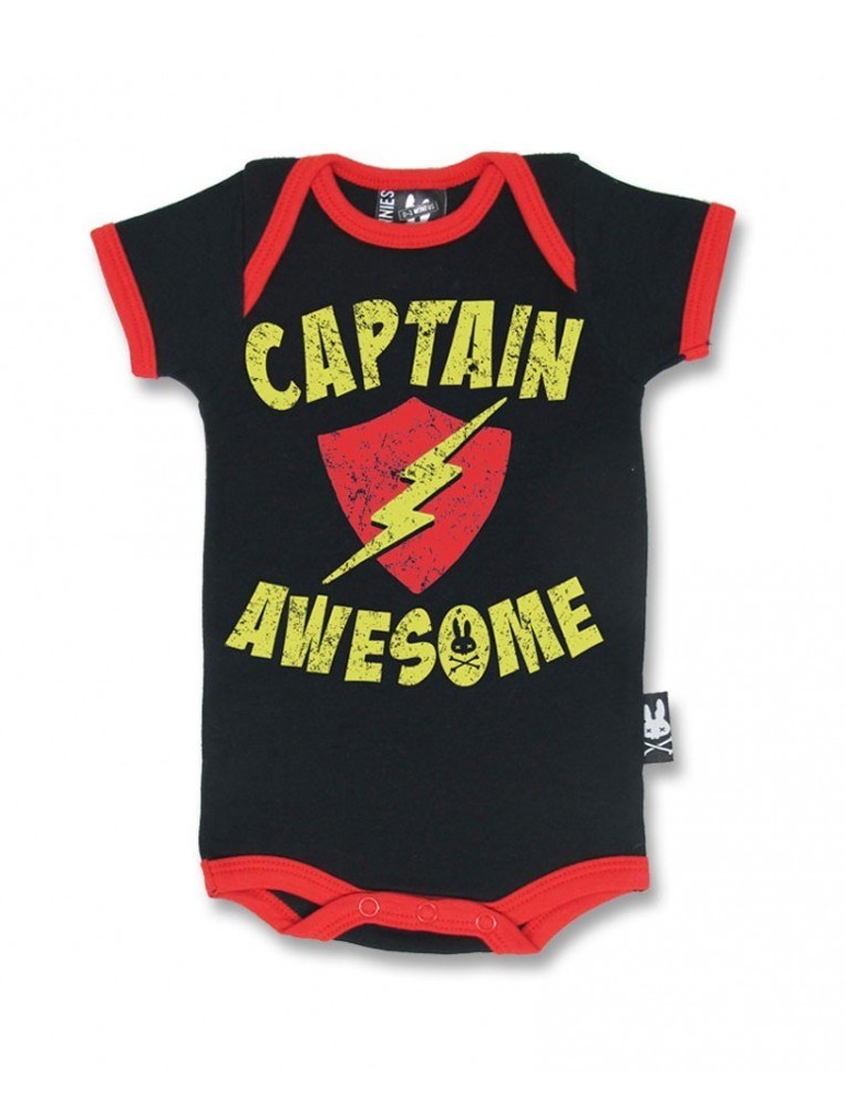 Romper Captain Awesome for baby by Six Bunnies